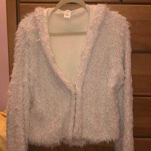 Esley Cream Faux Fur Shearling Jacket/Sweater